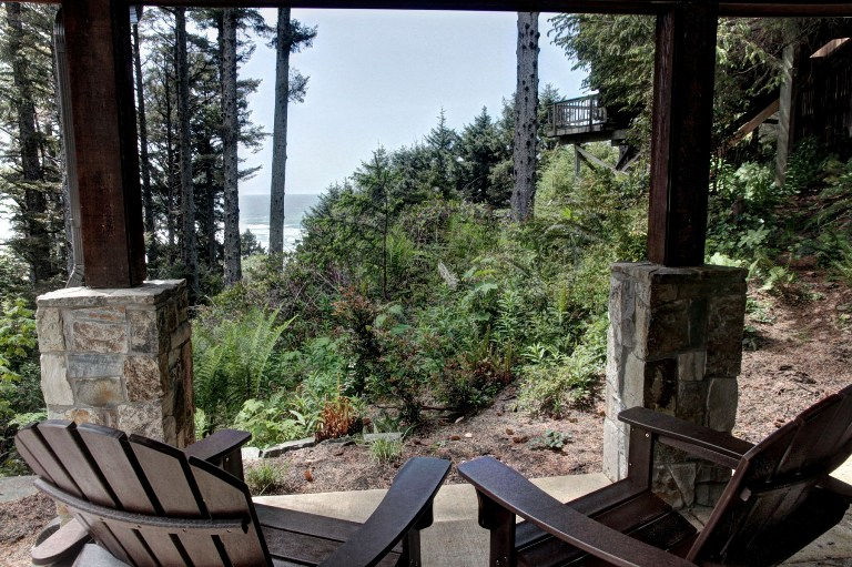 View from Oregon Coast Vacation Rental Porch
